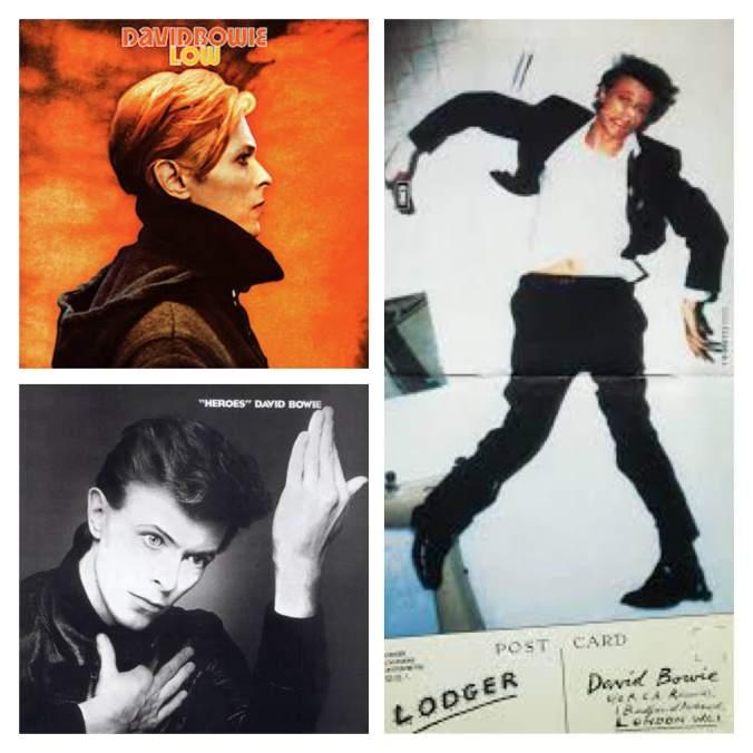 Os álbuns da Trilogia de Berlim. Low, Heroes e Lodger.