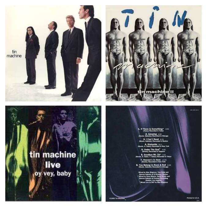 David Bowie formou o grupo de hard rock Tim Machine no auge da carreira. Foram lançados três álbuns entre 1989 e 1992 com fraca recepção da crítica e público.